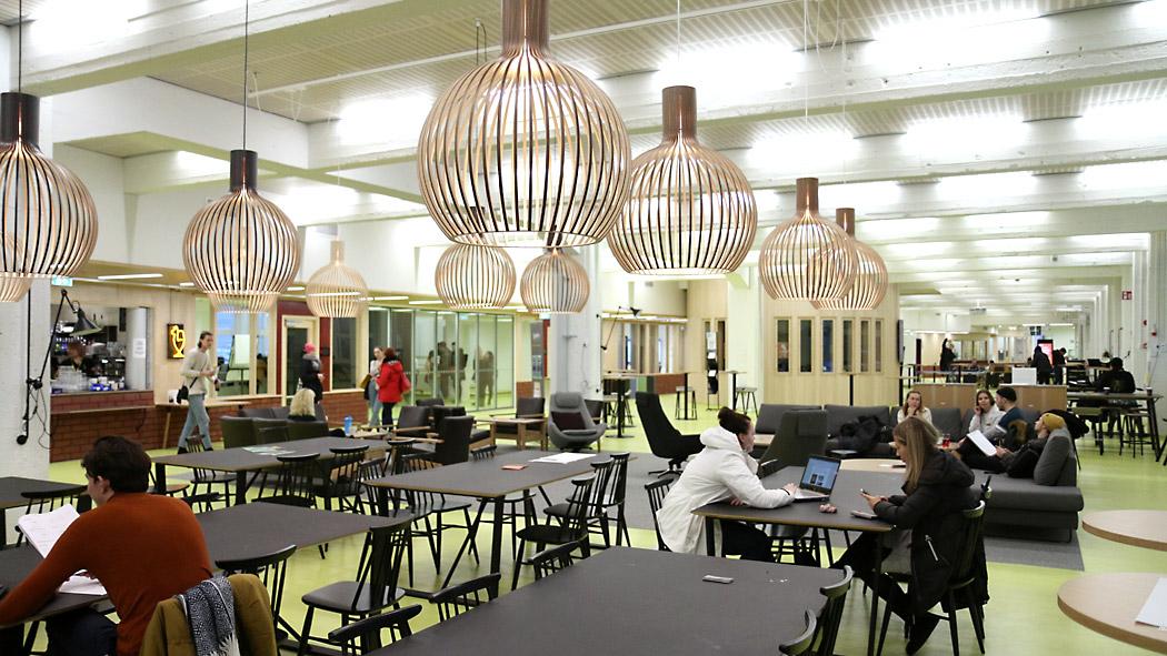 Tapahtuma-areena ja opiskelijajärjestön kampusbaari Lamkooma tarjoavat puitteet oleilulle, pelailulle ja tapahtumille.